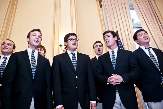 May 6, 2013 Awards Ceremony and Reception: The Georgetown Chimes Men's A Cappella Group. Photo credit Tony Powell