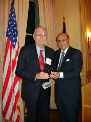 May 6, 2013 Awards Ceremony and Reception: Ambassador John L. Loeb, Jr. Receives the Henry L. Kimelman ~ Milton A. Wolf Award