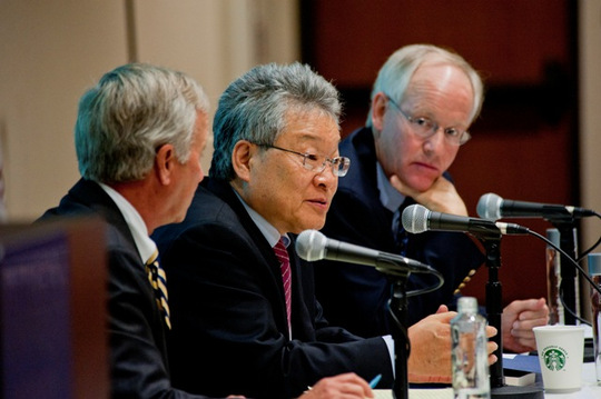 First Panel: Dr. Dan Caldwell, Spencer H. Kim and Blaine Harden