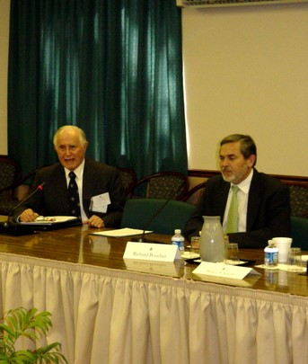 Spring 2006: Ambassador Leon Weil and Assistant Secretary of State for South Asian Affairs Richard Boucher
