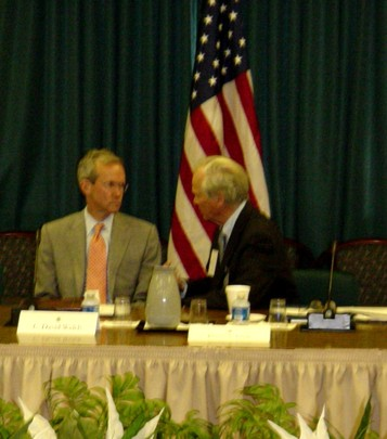 Spring 2006: Assistant Secretary of State for Near East Affairs C. David Hill and Ambassador Bruce S. Gelb