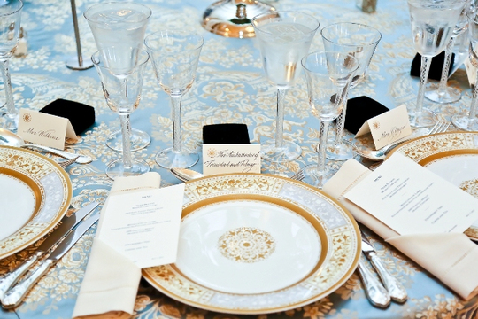 30th Anniversary Gala: Place Setting by Design Cuisine. Photo credit Tony Powell
