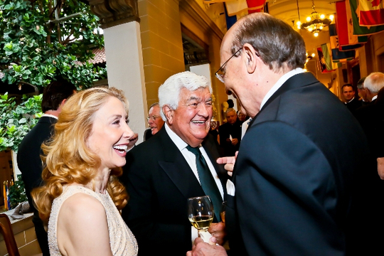 30th Anniversary Gala: Sharon Handler Loeb, Ambassador Tom C. Korologos and Ambassador Abelardo L. Valdez. Photo credit Tony Powell