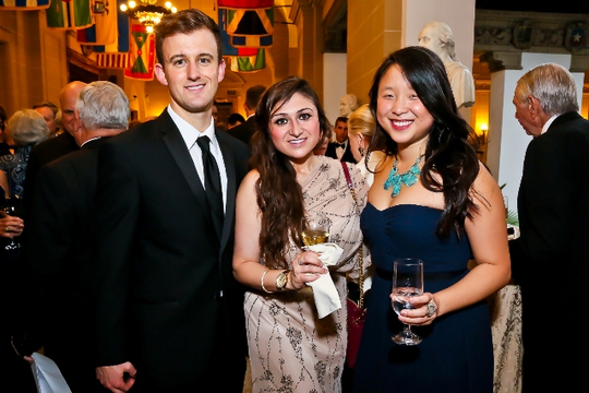 30th Anniversary Gala: International Affairs Alumni Fellows Cameron Combs, Valerie Brusilovsky and Sharon Sun. Photo credit Tony Powell