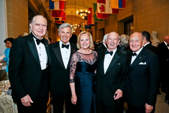 30th Anniversary Gala: U.S. Ambassadors to Denmark John L. Loeb, Jr. (1981-1983), Stuart A. Bernstein (2001-2005), Laurie S. Fulton (2009-2013), Keith L. Brown (1989-1992) and Edward E. Elson (1993-1998). Photo credit Tony Powell