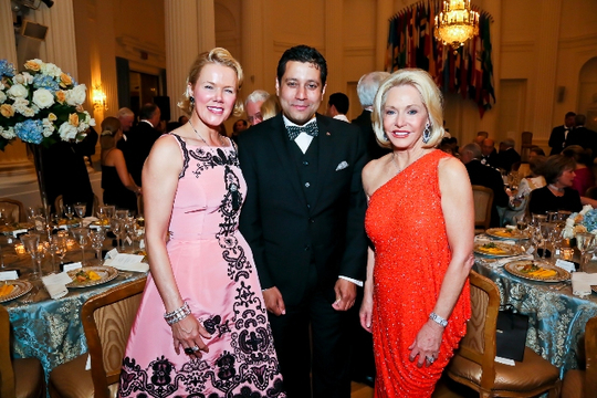 30th Anniversary Gala: Rhonda Wilkins, The Ambassador of Trinidad and Tobago H.E. Neil Parsan and Ambassador Mary M. Ourisman. Photo credit Tony Powell