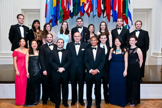 30th Anniversary Gala: International Affairs Fellowship Program Alumni and Ambassador Abelardo L. Valdez. Photo credit Tony Powell