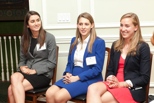 Courtney Ready, Lara Porter and Caryl Merten of the Class of 2013. Photo Credit Jenifer Morris Photography