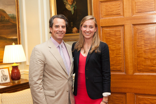 Ambassador Stuart Holliday and Caryl Merten of the Class of 2013. Photo credit Jenifer Morris Photography