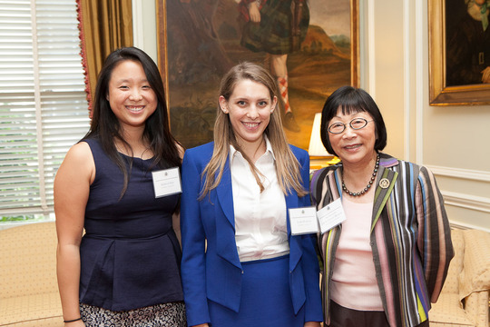 Sharon Sun of the Class of 2011,  Lara Porter of the Class of 2013 and Ambassador Julia Chang Bloch. Photo credit Jenifer Morris Photography