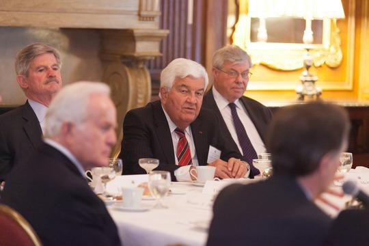 Ambassador Lloyd Hand, Ambassdor Jim Nicholson, Ambassador Tom Korologos, Ambassador Richard McCormack