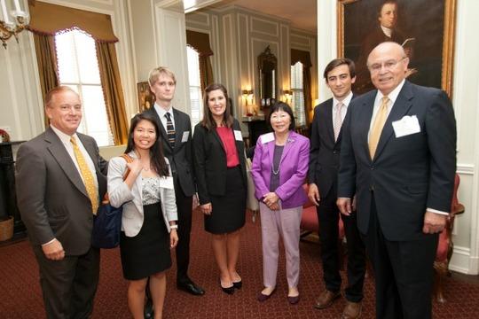 Ambassador Siebert, Elaine Li, Chris Harper, Sophia Henager, Ambassador Bloch, Dominic Watson and Ambassador Valdez