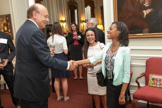 Ambassador Valdez, Francheska Loza and Jasmine Wyatt