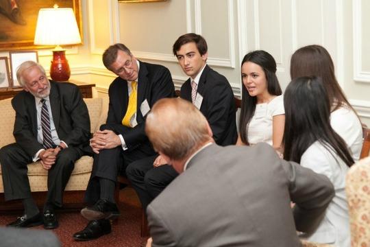 Ambassador Chorba, Ambassador Hughes, Dominic Watson and Francheska Loza
