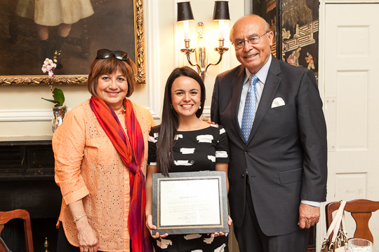 Ambassador Lomellin, Francheska Loza and Ambassador Valdez
