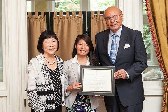 Ambassador Bloch, Elaine Li and Ambassador Valdez