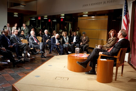 Audience at the John F. Kennedy, Jr. Forum on October 4, 2011