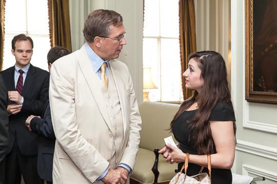 Ambassador Hughes and Valerie Brusilovsky