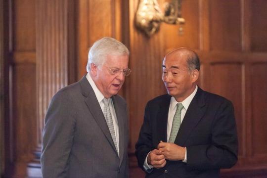 Ambassadors Schieffer and Sasae