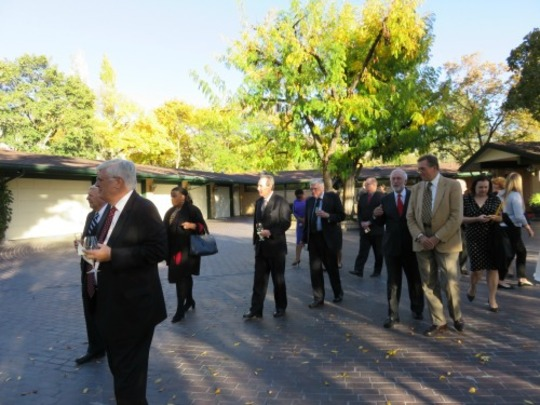 The CAA delegation toured Ambassador and Mrs. Price's residence before a welcome reception and dinner.