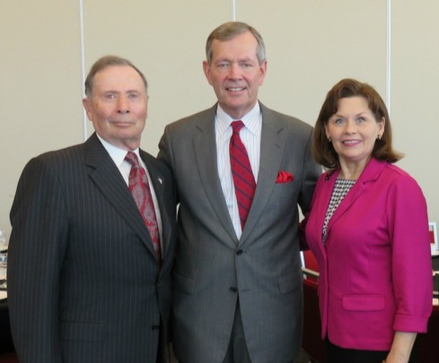 Ambassador John Price, former Governor of Utah Michael Leavitt and Mrs. Jackie Leavitt