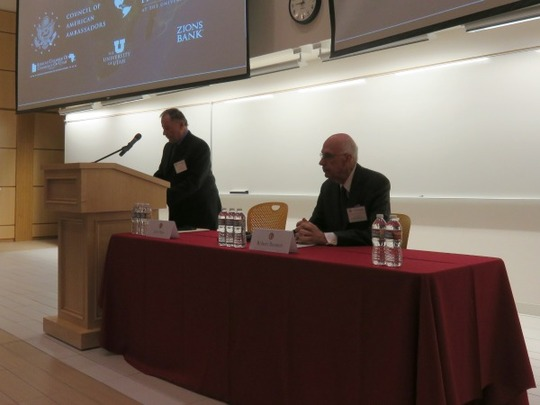 Ambassador John Price introduced former US Senator Bob Bennett.