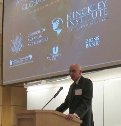 Former US Senator Bob Bennett addressed the conference.