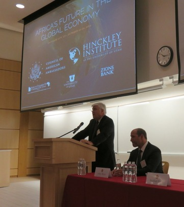 Mr. Stephen Hayes, President and CEO of the Corporate Council on Africa, addressed the conference.