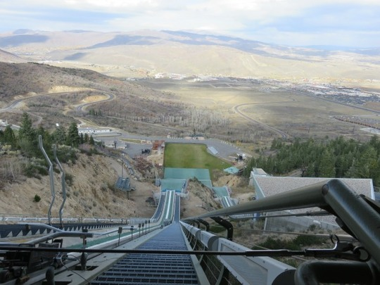 The CAA delegation toured the Utah Olympic Park in Park City, UT.