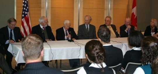 Fall 2007 Mission to Canada: Delegation Members Participating in a Roundtable with Students on October 17, 2007