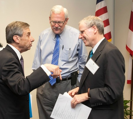 Ambassador Paul Russo, Ambassador Jim Rosapepe, and Ambassador Robert Ford