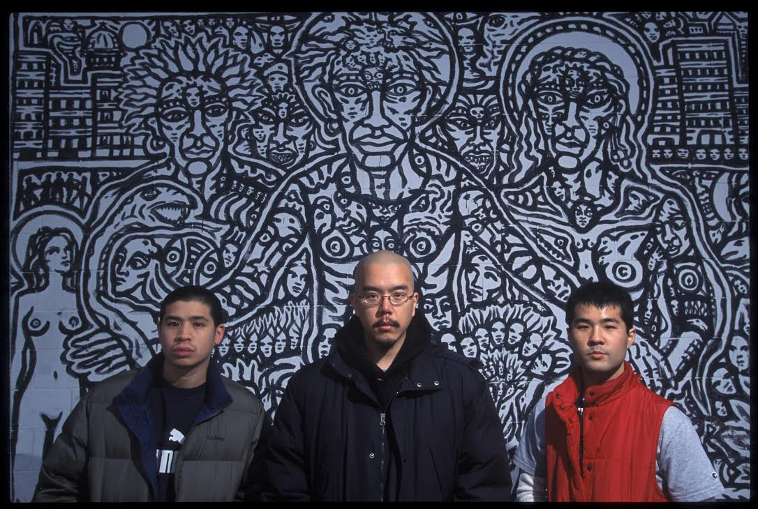 Mountain Brothers, West Philadelphia, early 2000s. L-R: Christopher Wang (Peril-L), Scott Jung (CHOPS), Stephen Wei (Styles Infinite).