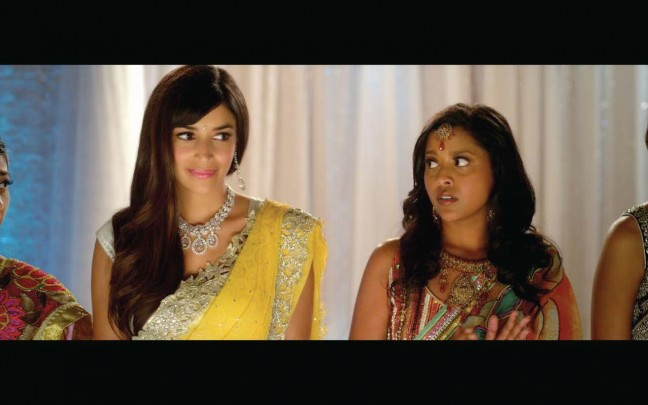 Hannah Simone (left) and Tiya Sircar in Miss India America.