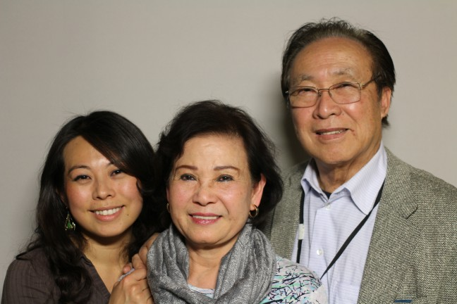 Jenny Phu with her parents at StoryCorps San Francisco.