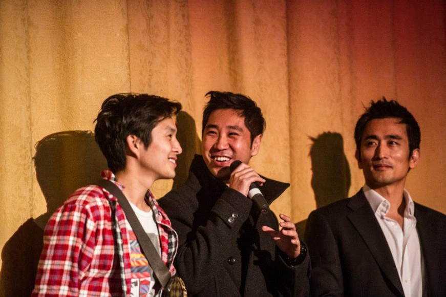 From Left: Justin Chon, Esteban Ahn, and In-Pyo Cha at Opening Night