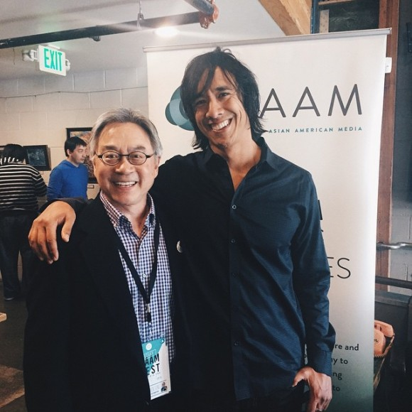 CAAM Executive Director Stephen Gong and Kip Fulbeck