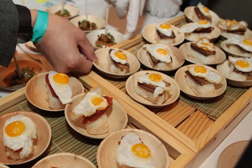 Breakfast at Tiffany's - Quail Egg Silog 'Sushi'
