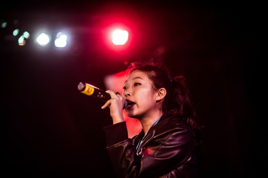 Awkwafina's sound check at Directions in Sound