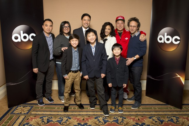"The cast and executive producers of ""Fresh Off the Boat"" at Disney 