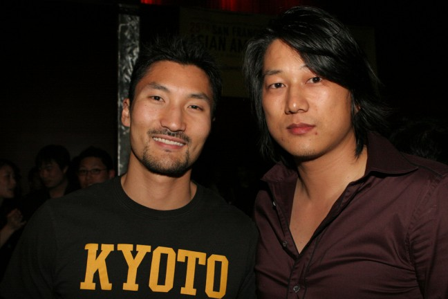 Yul Kwon and Sung Kang at SFIAAFF (now CAAMFest) on March 17, 2007. Photo by Albert Chau.