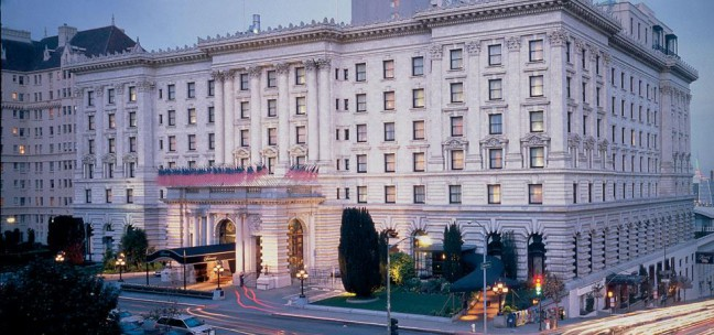 Stay at the luxurious Fairmont Hotel in San Francisco.