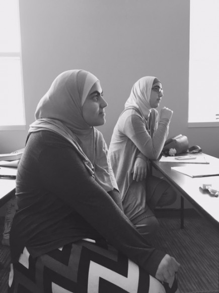 Muslim Youth Voices Project Dallas workshops from 2017. Photo by Production Manager Kristin Colaneri.