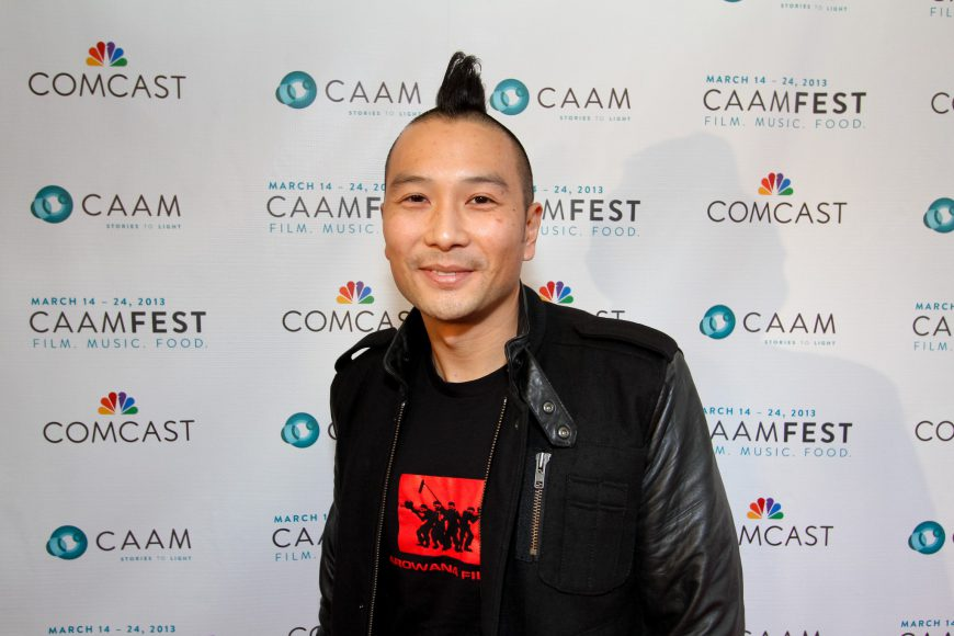 Evan Jackson Leong at CAAMFest 2013 opening night. Photo by Michael Jeong Photography.