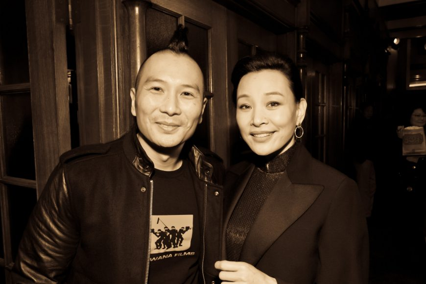 Evan Jackson Leong and Joan Chen at CAAMFest 2013 opening night. Photo by Michael Jeong Photography.
