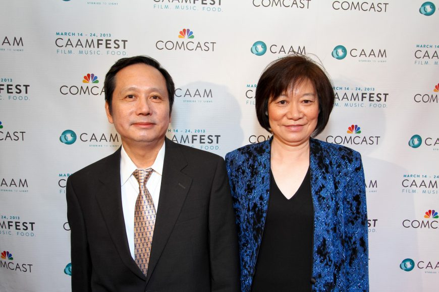 Jeremy Lin's parents, Gie-Ming Lin and Shirley Lin, at CAAMFest 2013 opening night. Photo by Michael Jeong Photography.