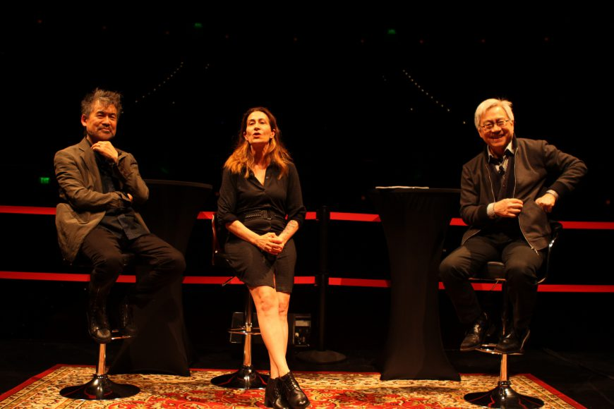 David Henry Hwang and Jeanine Tesori talk about their new musical play SOFT POWER. Photo by Leanne Koh.