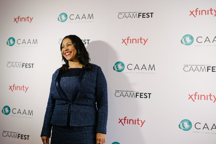 "San Francisco Mayor London Breed at CAAMFest37 Opening Night. World Premiere of Harry and Josh Chuck's ""Chinatown Rising."" Photo by Kavin Chan."