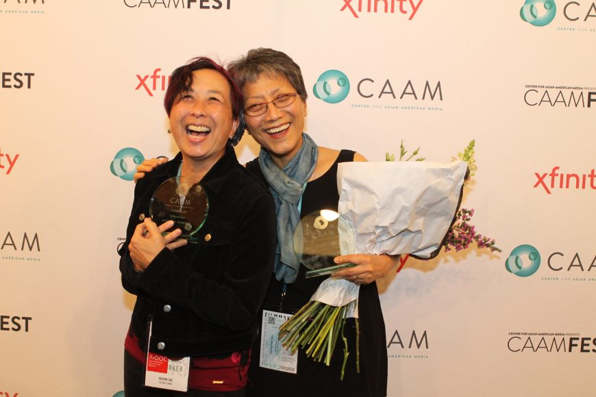 CAAMFest37 Spotlight Honorees Valerie Soe and Deann Borshay Liem. Photo by Leanne Koh.