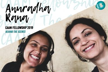 "Two Indian American women are smiling at the camera. The words say ""Anuradha Rana"""