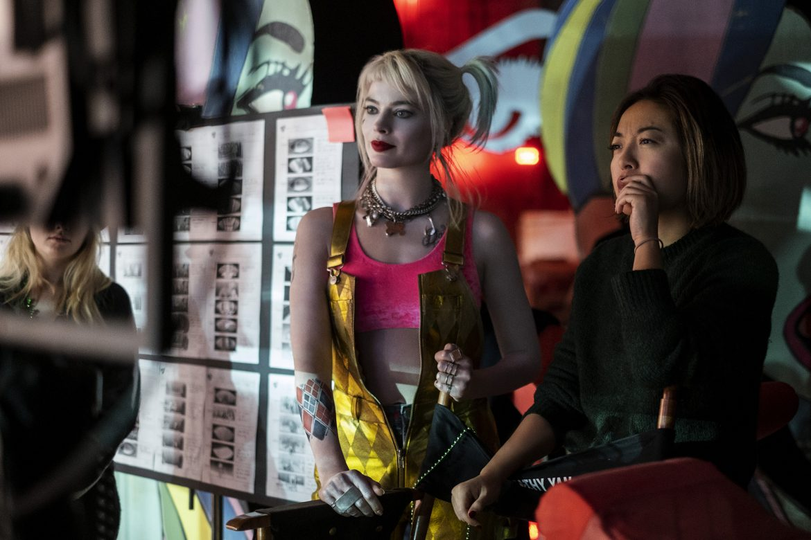 Margot Robbie and Cathy Yan